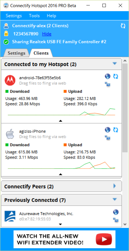 WiFi Hotspot with Connectify Hotspot