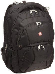 SwissGear SA1908 Black TSA Friendly ScanSmart Laptop Computer Backpack - Fits Most 17 Inch Laptops and Tablets