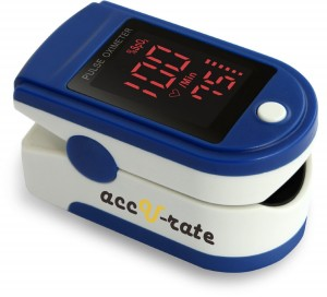 CMS 500DL Generation 2 Fingertip Pulse Oximeter Blood Oxygen Saturation Monitor with silicon cover, batteries and lanyard