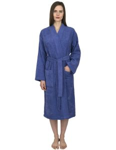 TowelSelections Turkish Cotton Robe Kimono Collar Terry Bathrobe Made in Turkey