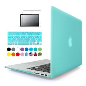 iBenzer - 3 in 1 Soft-Skin Smooth Finish Soft-Touch Plastic Hard Case Cover & Keyboard Cover & Screen Protector for Macbook Air 13.3''
