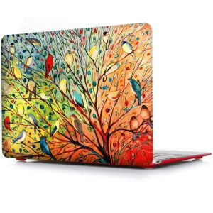 iCasso Ultra Slim Light Weight Rubberized Hard Case Glossy Clear Crystal Snap-On Hard Cover Case for MacBook Air