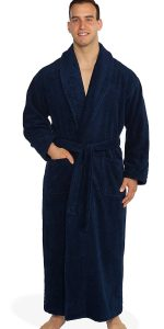 turkishtowels Terry Bathrobe, 100% Combed Pure Turkish Cotton Terry Robe