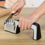 Knife Sharpening System, 4 in 1 Knife Scissors Sharpener